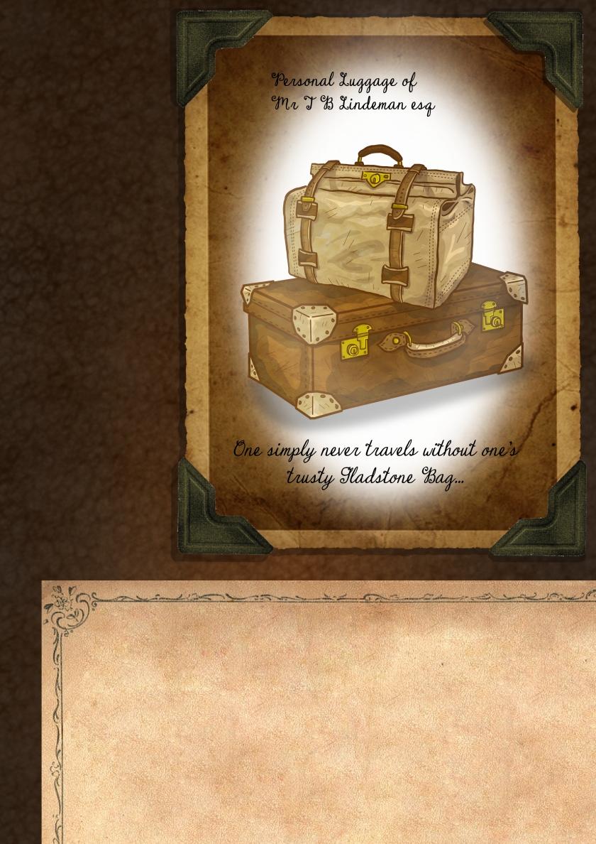 item cards luggage