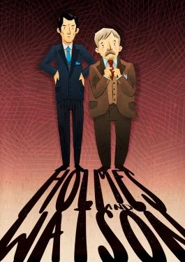 Holmes and Watson.